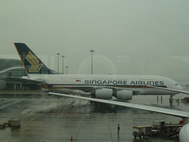 On my way to the gate I see this big girl getting ready for departure.