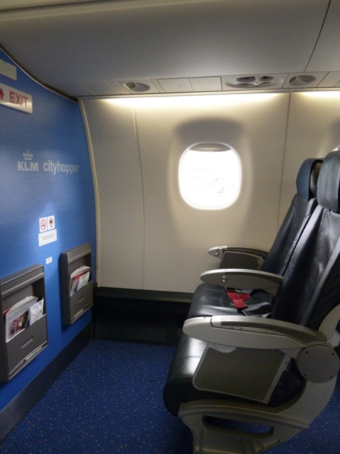 Looking across the aisle.
