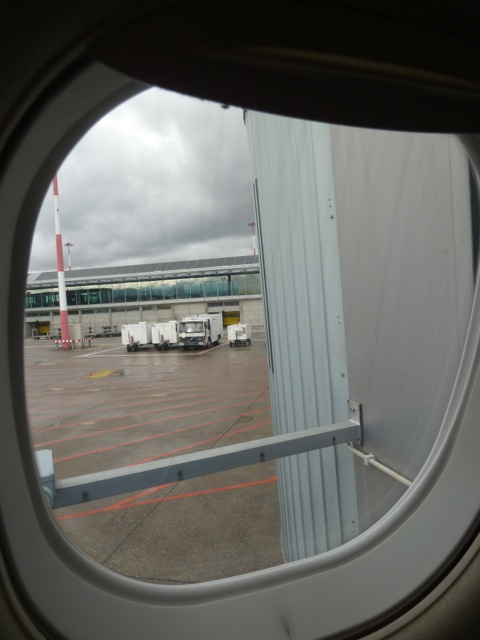 The view at the gate.