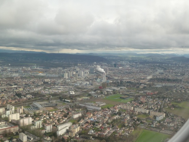 The city of Basel, shortly before we start the turn.
