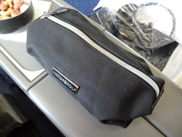 The amenity kit has changed since my last flight in July.