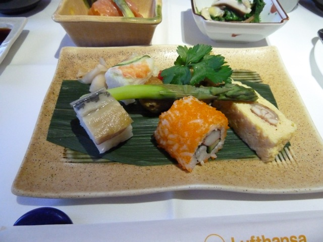 A selection of sushi.