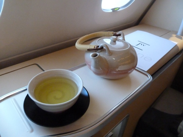 Green tea to drink.