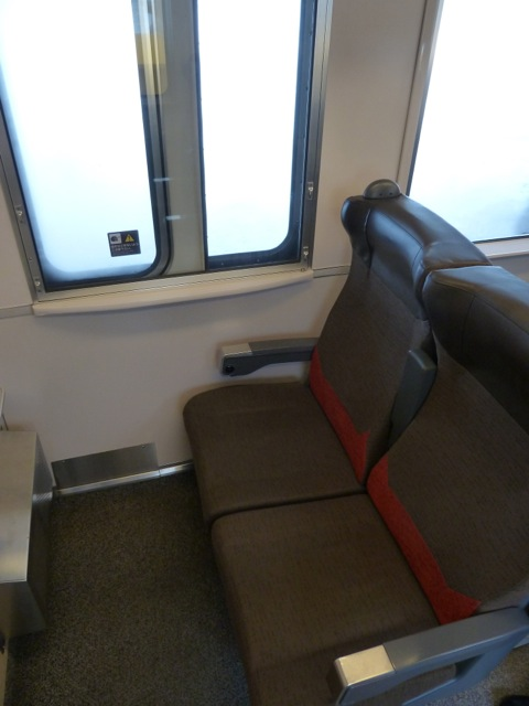 My seat in the reserved coach.