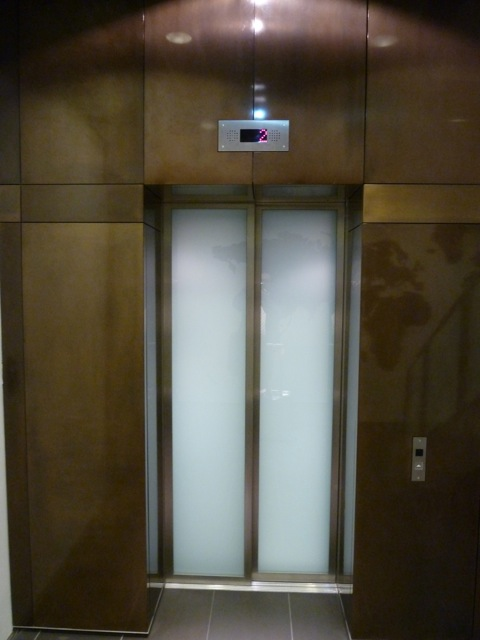 The staircase to heaven has made way for the more convenient lift.
