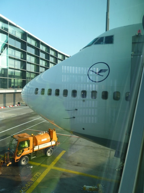 My chariot through the airbridge. I should have taken the Economy lane instead!