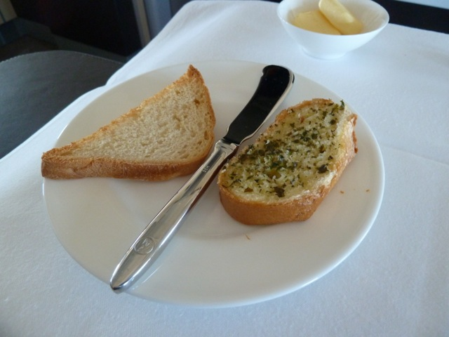 Toast and garlic bread.
