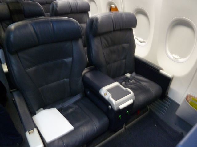My only shot of the seat. The passenger behind me was rather impatient...