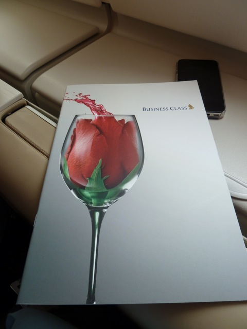The menu has already been placed at my seat when I arrive.