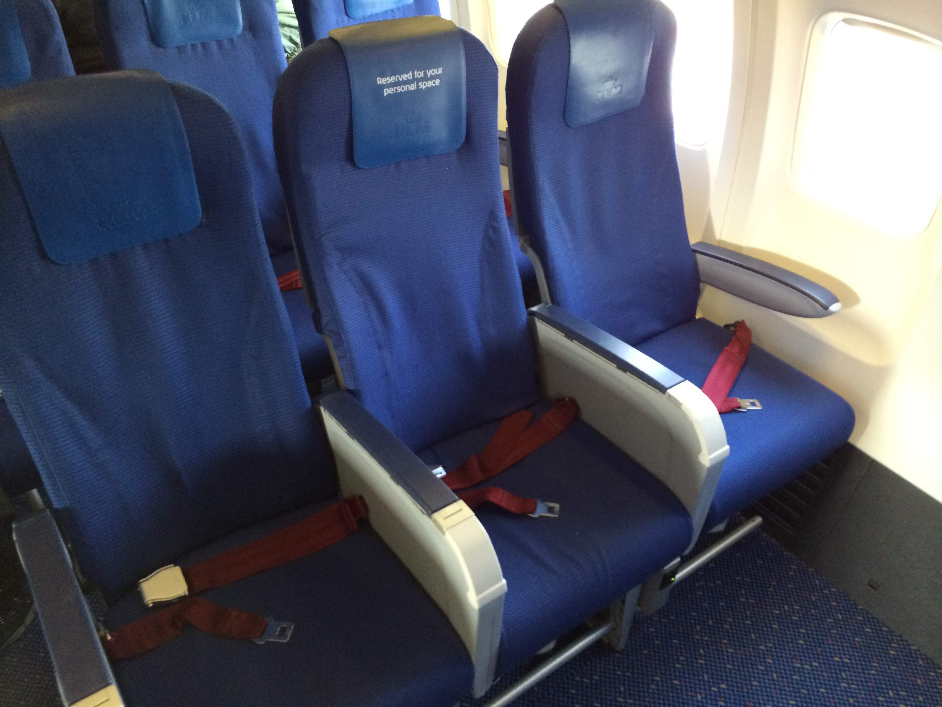 Klm Business Class B737 800 Amsterdam To Lisbon