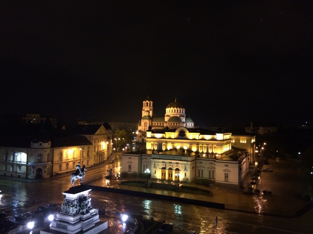 Nevsky Cathedral. This is the view from my room.