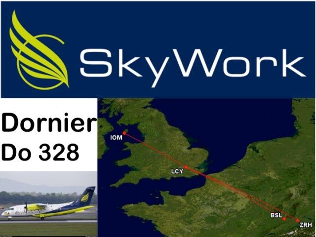 Pleasant Skywork Economy Class Dornier Do 328 London City To Bralicious Painted Fabric Chair Ideas Braliciousco