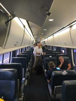 Amtrak First Class Acela Express Boston South Station To