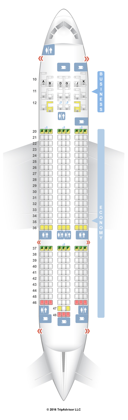 Qatar Airways Boeing 787 8 Dreamliner Seat Plan