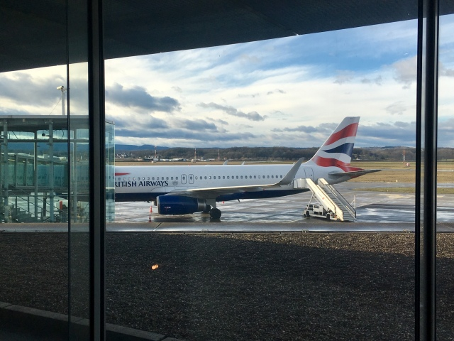 British Airways, Economy Class – Airbus A 320: Basel to London